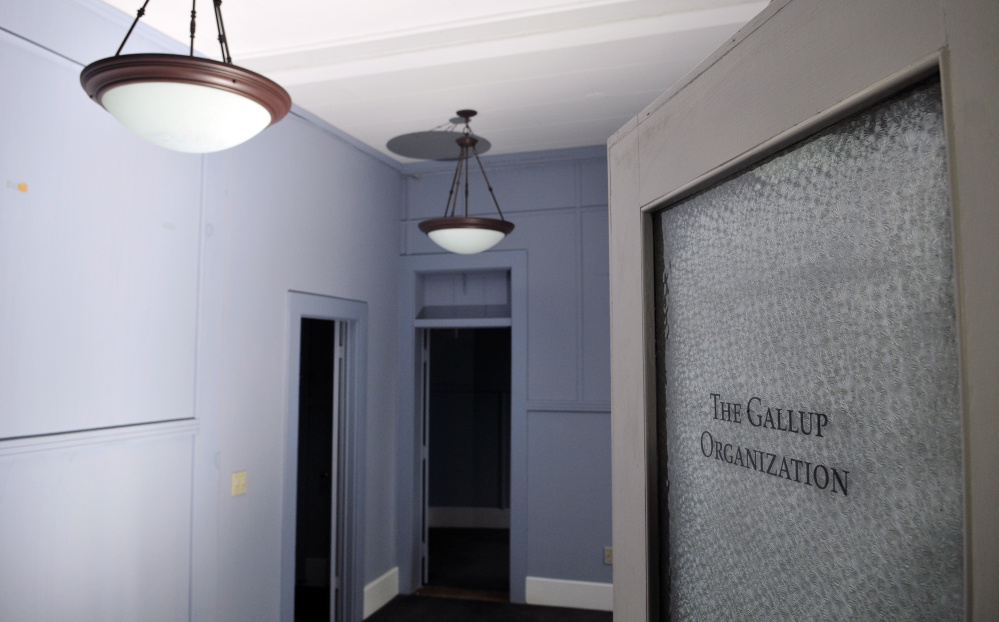 A lavender office in 287 Water St. in Augusta was once occupied by the Gallup polling organization.