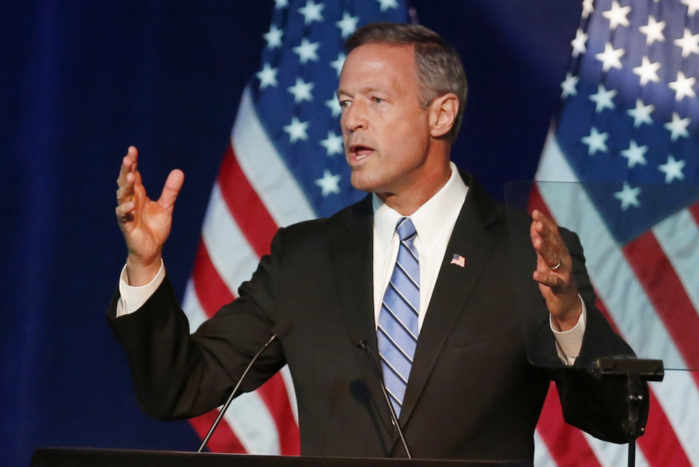 Martin O'Malley speaks in Minneapolis in August. Trailing Hillary Clinton and Bernie Sanders in the polls, O'Malley needs a breakthrough in Tuesday night's Democratic presidential debate.