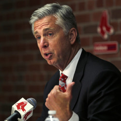 AP photo   Boston Red Sox President of Baseball Operations Dave Dombrowski gesture as he talks with reporters during a news conference Tuesday at Fenway Park in Boston.