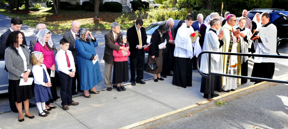 A blessing ceremony, including a high Mass, was conducted by priests and members of the congregation of St. Theresa's Church in Oakland on Thursday.