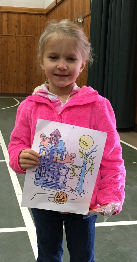 The first place winner for ages 7 and under was Haylee Dyer took first place in the Friends of the Belgrade Public Library coloring contest in the age seven and younger category.