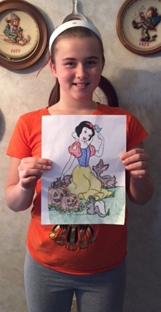 Priscilla Partridge placed first in the Friends of the Belgrade Public Library coloring contest in the age 8-12 category.