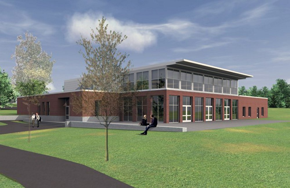 Rendering of new dining hall being built at Kents Hill School.
