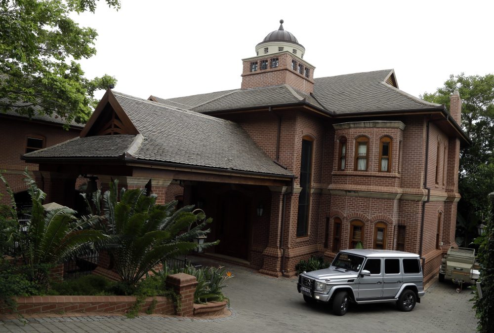 The house of Oscar Pistorius's uncle stands in Pretoria, South Africa, Tuesday.