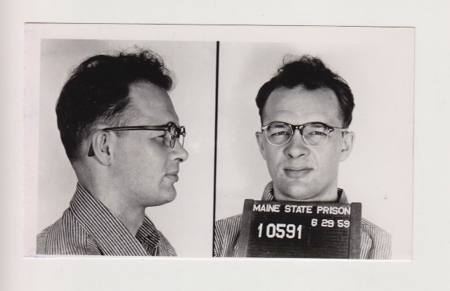 A mug shot of Charles Terry, of Waterville, in 1959, when he was sent to prison for assaulting a woman. Terry had just been released in 1958 after eight years in the Maine State Prison, convicted of rape.