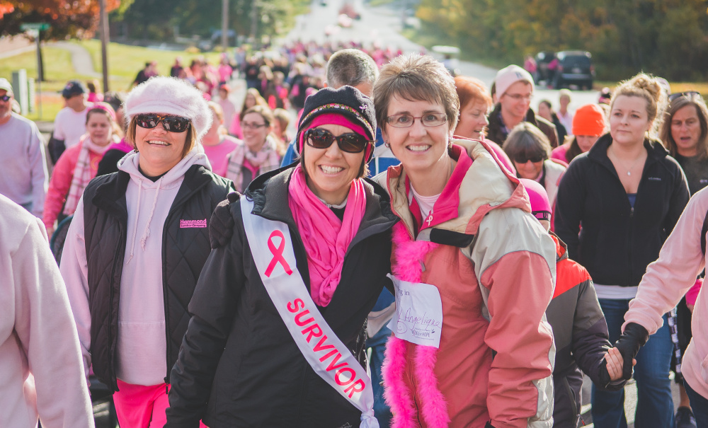 "Nearly 900 people came to walk during the 12th annual Walk for Hope on Oct. 17 in Augusta, raising $117,000, and counting. Cancer survivors donned ""Survivor"" sashes. Some other walkers chose to wear signs of the person or people they were walking for. The event raises both awareness of breast cancer and funds in support of MaineGeneral's Breast Care Program at the Alfond Center for Health, according to a news release from MaineGeneral Health."