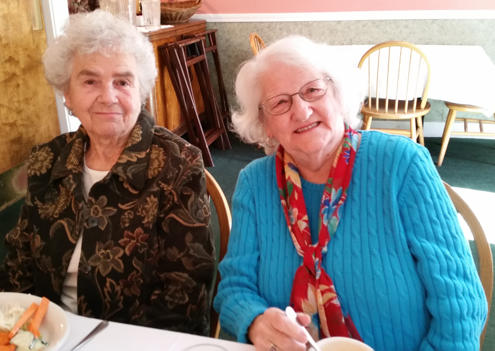 Contributed photo From left, are Verna Lister and Mrs. Edna Marshall.