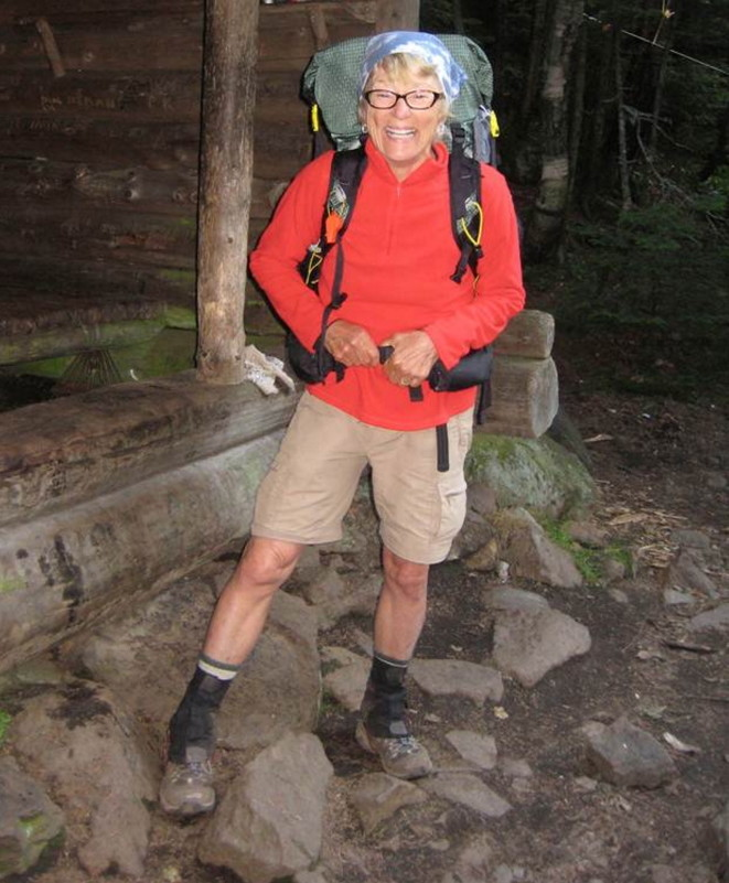 Geraldine Largay, in a photo taken on the Applachian Trail two days before she was reported missing in 2013. Largay's remains were found earlier this month and were officially identfied by the state medical examiner Friday. The cause of her death was ruled accidental.