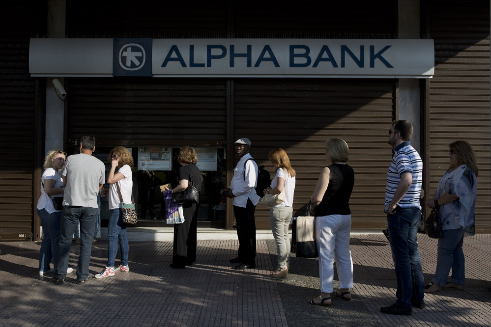 The European Central Bank said Saturday that Greece's battered banks need $15.8 billion in fresh money to get back on their feet and resume normal business.