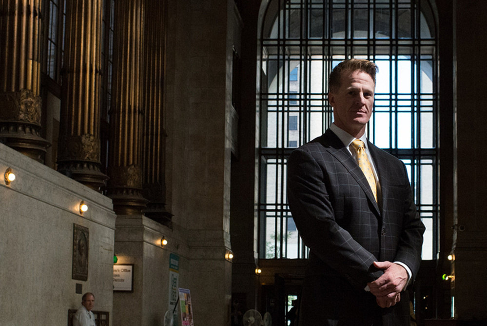 """Jason Snyder of Pittsburgh told top state officials of the unmet needs of addicts. """"It's something I never would have thought about doing earlier in my recovery,"""" he says."""