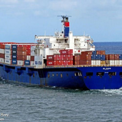 "The 790-foot cargo ship El Faro, which vanished off the Bahamas during Hurricane Joaquin, was a ""roll-on/roll-off"" vessel, designed to carry trucks and other vehicles that are driven on and off the ship. Photo by Capt. William Hoey/MarineTraffic.com"