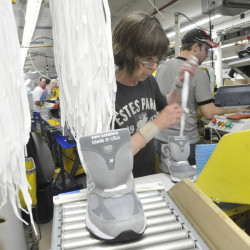 Jobs at New Balance in Norridgewock are among those in Maine that are most threatened by passage of the Trans-Pacific Partnership accord.  Shawn Patrick Ouellette/Staff Photographer