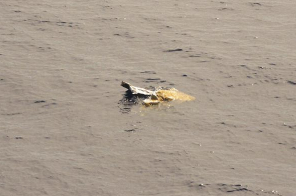 A photo of debris from the El Faro ship, released by the US Coast Guard.