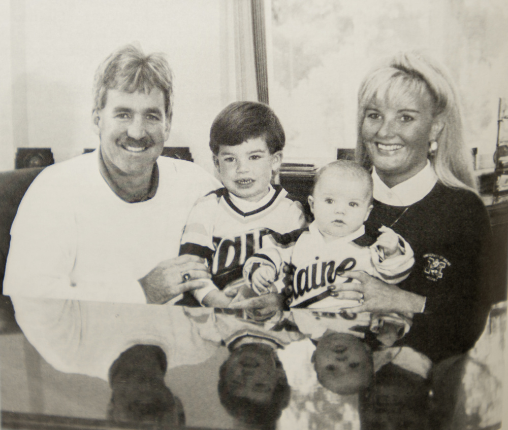 The Walsh family in the 1990s, from left, Shawn, Tyler, Travis and Tracey.