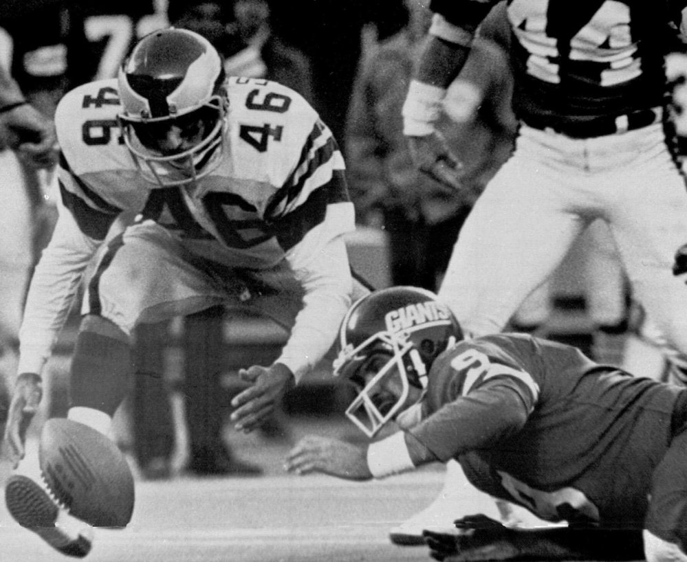 All Giants quarterback Joe Pisarcik had to do in 1978 was take a knee. Instead he tried to hand off, under orders from the coaching staff. The fumble was recovered by Herman Edwards of the Eagles for the winning touchdown.