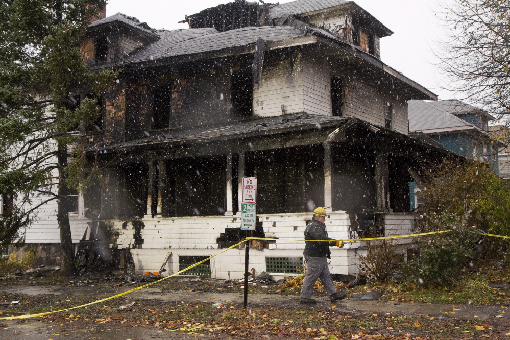 A fire last fall in this multi-unit building on Noyes Street in Portland left six people dead. The incident focused a critical eye on the city's lax fire inspection program for its thousands of rental apartments. Emulating the way the city addressed the issue, the town of Brunswick is dusting off its own rental-unit inspection proposal from 2011.