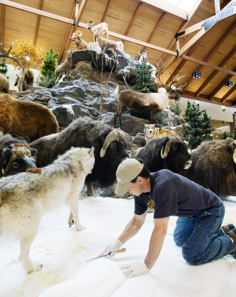 Cabela's in Scarborough sells outdoor gear from a superstore filled with museum-quality displays – an example of destination shoppping. The company is now slowing its expansion and may build smaller stores.