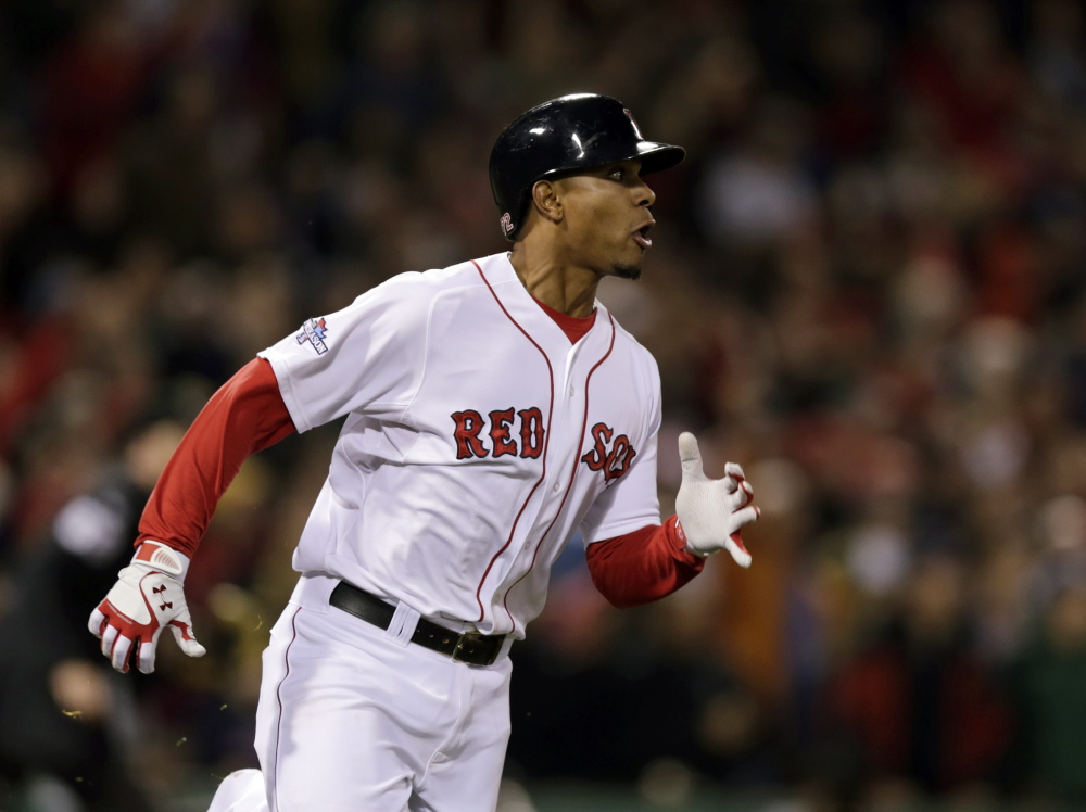Boston Red Sox's Xander Bogaerts is a finalist for a Gold Glove award.