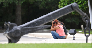Relatives await news of the crew of 33 aboard the missing cargo ship El Faro at the Seafarers Union Hall on Sunday in Jacksonville, Fla. The Associated Press