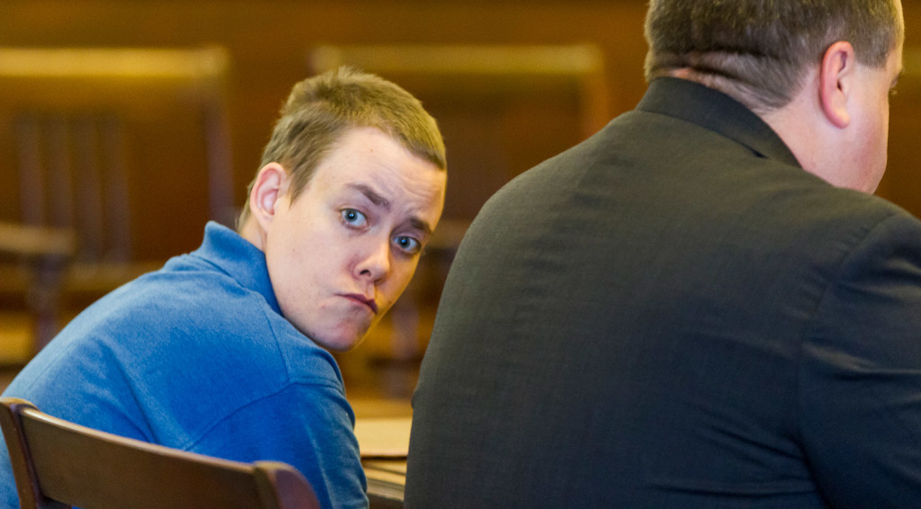 Connor MacCalister of Saco pleaded guilty on Thursday in York County Superior Court to murdering Wendy Boudreau in a Saco supermarket.
