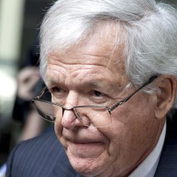 FILE - In this June 9, 2015 file photo, former House Speaker Dennis Hastert leaves the federal courthouse in Chicago. A deadline for Hastert's legal team to file pretrial paperwork passed with nothing new filed, suggesting the former House speaker could be close to a plea deal that would avert a trial and help keep details of the hush-money case secret, legal experts said Wednesday, Oct. 14, 2015. (AP Photo/Christian K. Lee, File)