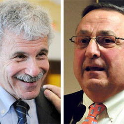"Gov. Paul LePage called the Government Oversight Committee's decision to investigate the governor ""a witch hunt by Sen. Roger Katz,"" left, but Katz said four other lawmakers requested the investigation."