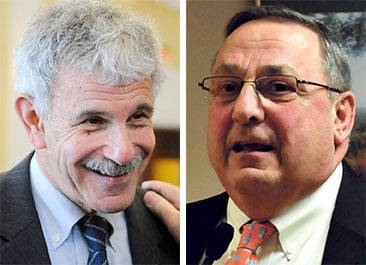 """Gov. Paul LePage called the Government Oversight Committee's decision to investigate the governor """"a witch hunt by Sen. Roger Katz,"""" left, but Katz said four other lawmakers requested the investigation."""