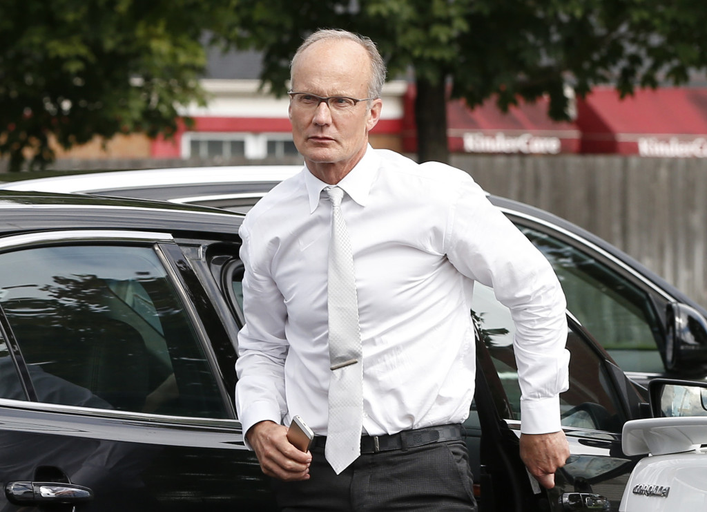 Dentist Walter Palmer arrives at his office in Bloomington, Minn., in this Sept. 8 photo. The Associated Press
