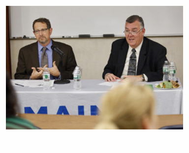 Kenneth Albert, right, director and chief operating officer, of the Maine Center for Disease Control and Prevention , on Tuesday said he supported a bill that would have required informed consent by parents to opt-out of vaccinations for their children. On Wednesday, he changed his mind. (Press Herald file photo)