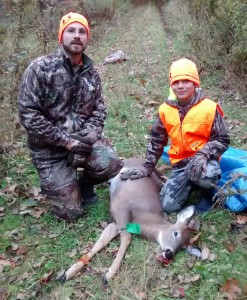 Sheldon Parise and Elijah Klaiber, age 10, both of Somerville. Elijah took his first deer on Youth Day, Oct. 24,  in Somerville.