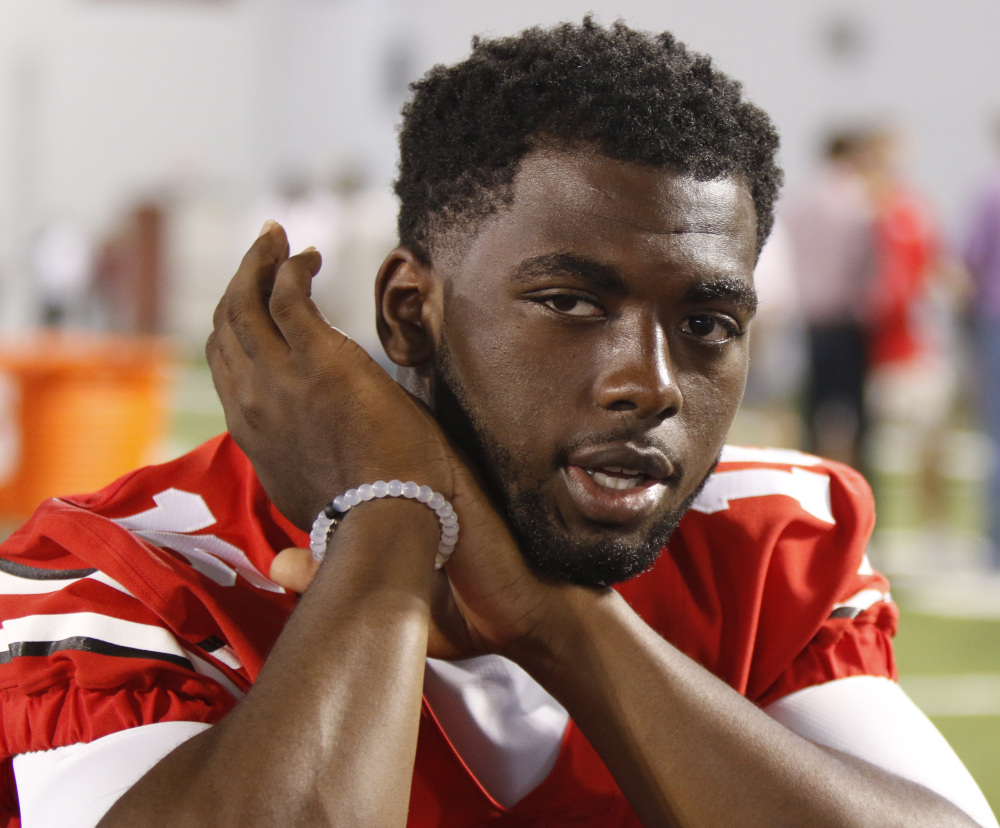 Ohio State quarterback J.T. Barrett has been suspended for one game after being cited with a misdemeanor offense of operating a vehicle under the influence. A statement from the school says Barrett was stopped at a Columbus police check point early Saturday morning. The Bucs had a bye this weekend but remained No. 1 in the AP poll.
