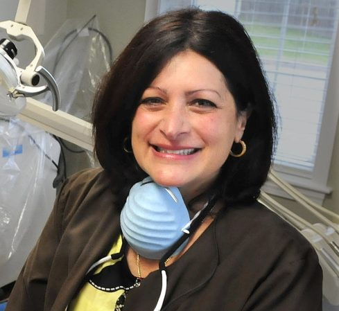 Dr. Demi Kouzounas, right, co-founder of Dentists Who Care for ME, which offers free dental care Friday. Northwoods Dental in Skowhegan is among the offices participating.