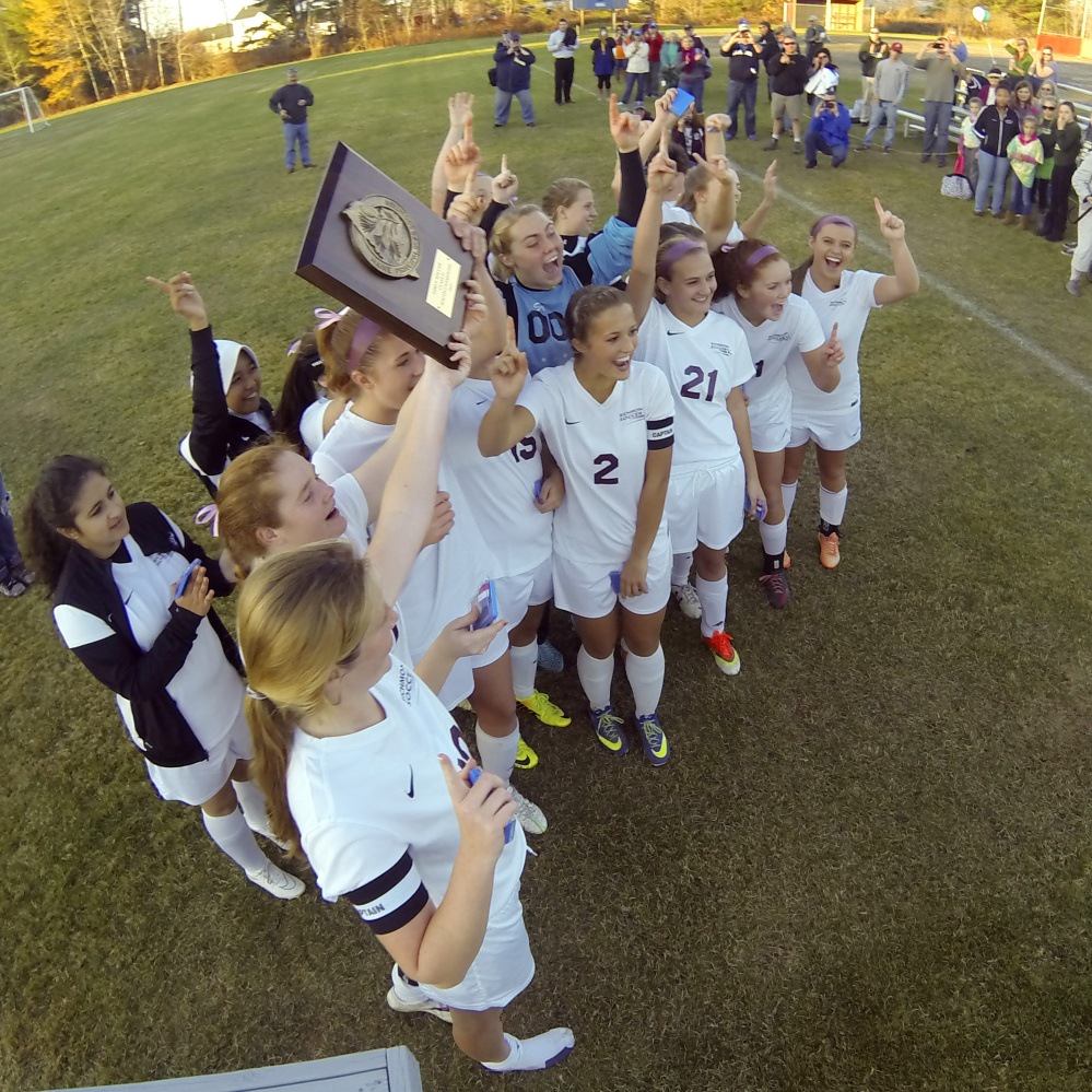 Richmond girls soccer rolls to class d south title centralmaine the richmond girls soccer team celebrates its 5 0 victory over rangeley in the class d south championship game wednesday staff photo by joe phelan malvernweather Images