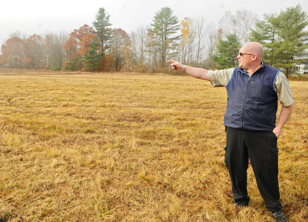 Rick Gowell talks about where the new store will go during an interview on Thursday at the site of the new Gowell's Supermarket that is expected to open next year in Litchfield.