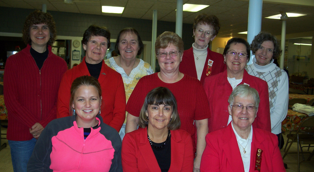 In front, from left, are Jennifer Goff, Karen Hayden and Irene Sylvain. Second row, from left, are Helen Bilodeau, Kathy Sites and Veronica Read. Back row, from left, are Lisa Poulin, Gail Quimby, Ronda LaPorte and Ruth Keister. Ann Barriault is absent from photo.