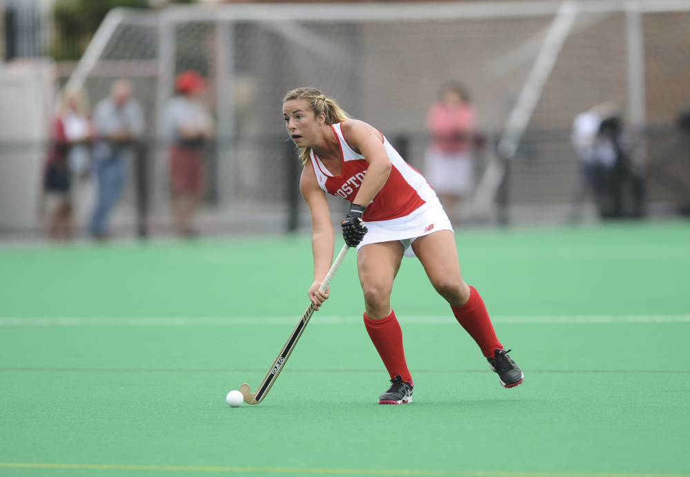 Katie Bernatchez, a Messalonskee graduate, has started 14 of the 15 games she's played for the Boston University field hockey team this season. Bernatchez, a senior back, will play against her sister, Kristy, and the North Carolina Tar Heels in an NCAA tournament game Saturday.