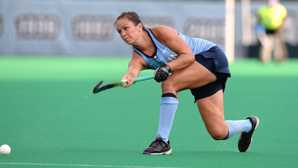 Kristy Bernatchez has started 14 of the 18 games she's played for the University of North Carolina field hockey team this season. On Saturday, Kristy will meet sister Katie and Boston University in an NCAA tournament game.