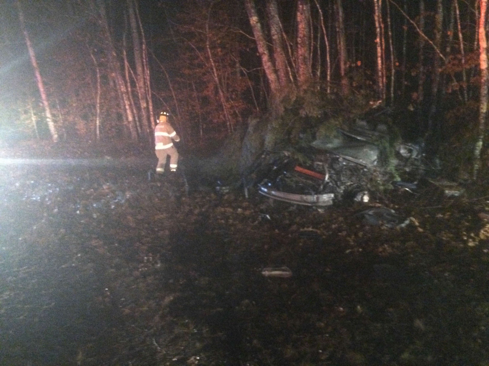 Cory A. Barter, 38, of Wiscasset died in a crash Thursday night in Whitefield, according to the Lincoln County Sheriff's Office.