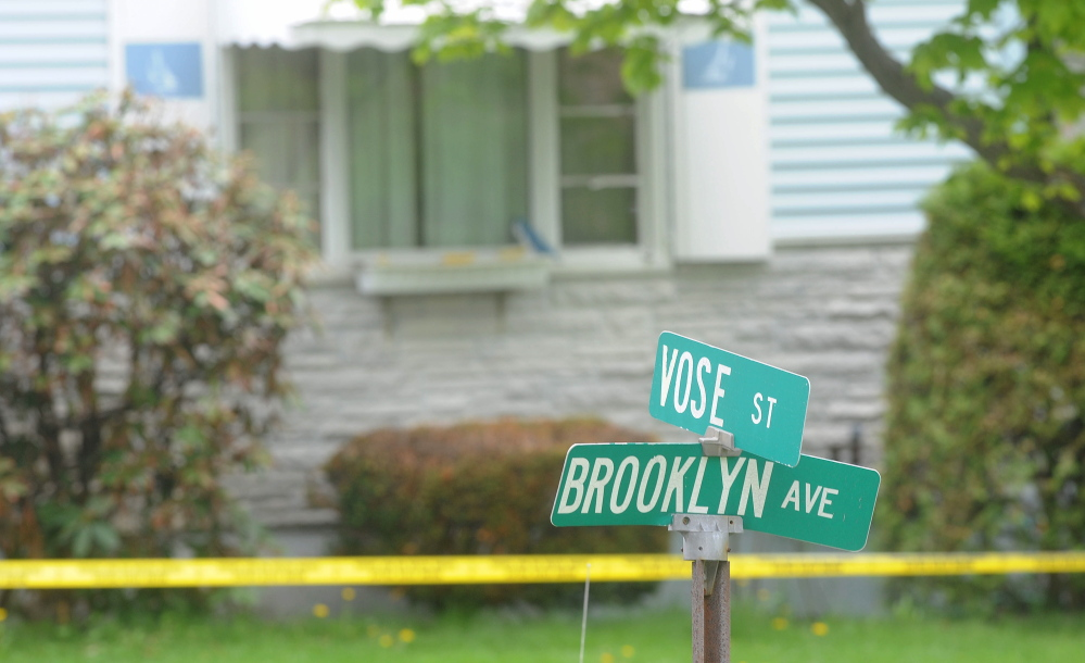 The view at 33 Brooklyn Avenue, where Aurele Fecteau, 92, was found dead in this photo from 2014.