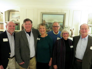 Officers and newly appointed trustees of the Lincoln County Historical Association, from left, are Phil Di Vece, trustee; Ed Kavanagh, president; Christine Hopf-Lovette, secretary; Bill Brewer, treasurer; Merry Fossel, vice president; Bill Gemmill, trustee.