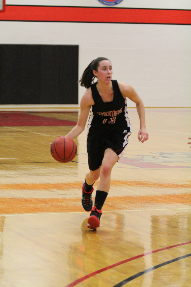 Ashleigh Gagne, of Waterville, returns for her senior season with the Thomas women's basketball team as one of the Terriers' most reliable players. She has not missed a game in her career with Thomas.