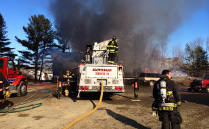 Maidson, Anson, Skowhegan and Solon fire departments responded to a house fire in Solon Tuesday morning.