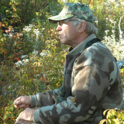 Roger Lambert of Strong, seen here on a moose-watching trip in 2007, prevailed in an 11-year land battle with neighbors over use of a road that runs across his property. Lambert, a register Maine Guide, and his wife, Kathy, originally filed suit in 2004 when they noticed increased traffic on Dickey Road. The final ruling came Nov. 10 in Franklin County Superior Court.