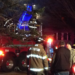 Firefighters from several area towns responded to a house fire on Old Brunswick Road in Gardiner on Wednesday.
