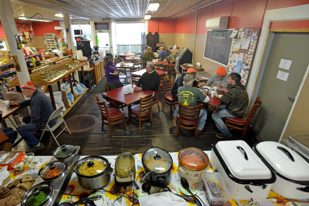 The Cambridge General Store on Main Street in Cambridge hosted a free Thanksgiving dinner for residents on Thursday. This is the first year the store has hosted the dinner but hopes to make it an annual event. Donations were being accepted to buy Christmas gifts for local children.