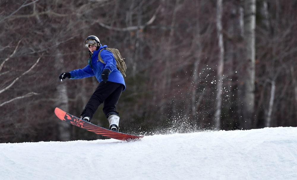Snowboarders and skiers at Sugarloaf won't likely notice a possible sale as the resort's owner, CNL Lifestyle Properties, looks for a buyer.