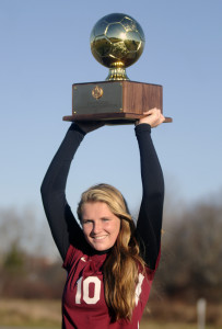 Staff photo by Andy Molloy   Richmond High School's Kelsea Anair is the Kennebec Journal Girls Soccer Player of the Year.