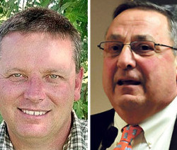 Senator Mike Thibodeau (left) and Governor Paul LePage.