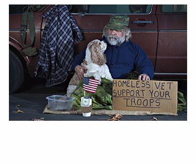 One of the far-too-many homeless veterans in the United States. (Photo by www.capitolhillblue.com)