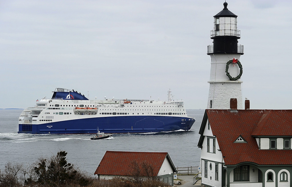 The Nova Star leaves Portland and passes the Portland Head Light as it heads out to sea. Gordon Chibroski/Staff Photographer